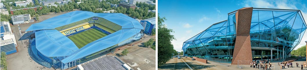 предложение по реконструкции стадиона «Шинник» от компании «ИНТЭКС» совместно с английской фирмой Populous,  к чемпионату 2018 г.